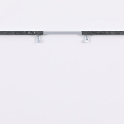 A spacer rod used to keep the hanging rods apart.