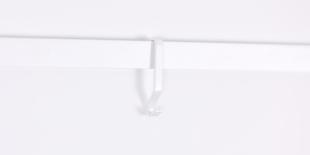 Molding Hook, picture rail hook in white